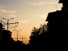 Sonnenuntergang ueber der Wohnstadt